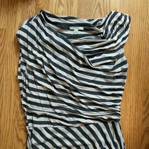 Bordeaux Dresses - Anthropologie striped jersey dress